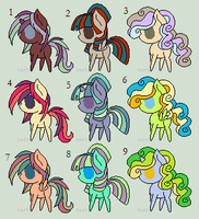 Free pony adopts #14 [CLOSED] by Icicle212