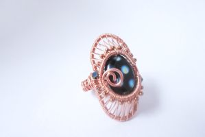 Wre wrapped copper ring by Toowired