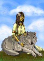 Native American Girl by CathyStephens