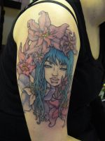 floral arm piece by Pallat