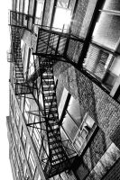 Fire Escape:  Off Spadina Ave. by basseca