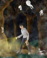 Behind You.. (Colored) by hellfire1306