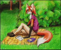 Amber the fox by YumeLilly