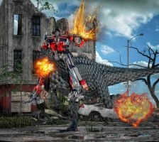 Optimus Prime e Grimlock by hiram67