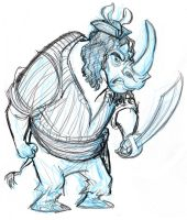 Pirate Rhino_Final rough by tombancroft