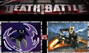 Raven vs. Ghost Rider by ScarecrowsMainFan