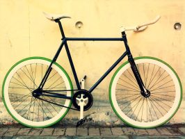 Fixie Concrete wall by dubbledude