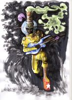 A funky space guitarist by guillomcool