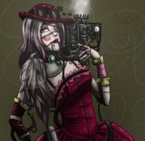 The Mangle/Toy Foxy - Steampunk version by DesignSpry