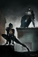 Batman and Catwoman by Ivan-Repin