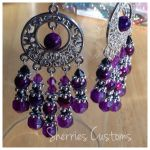 Purple Earrings by SherriesCustoms