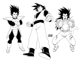 Some DBZ by scruffyronin