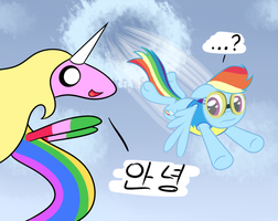 flying unicorn by hip-indeed