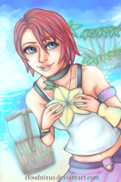 - Destiny Island - Kairi - by Cloudnixus