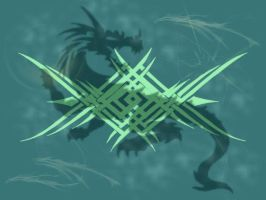 Abstract Celtic Dragon Background by stardrifting
