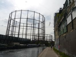 Regent's Canal Gasometers by Party9999999