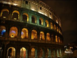 Coloseum at night by Csipesz
