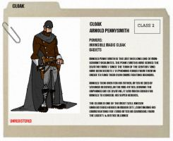 THE CLOAK - BIO CARD by mattcrap