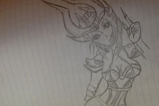 Syndra - League of Legends Doodle by xSirenityx