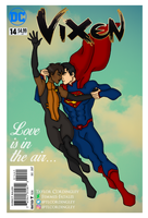 Vixen x Superman - Love is in the Air by Femmes-Fatales