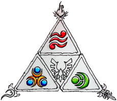 Triforce tattoo design 1.2 by bigshotartist