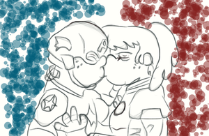 Red white and bluecest by TMNTFAN85