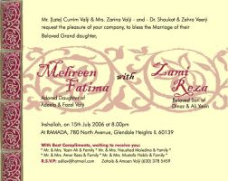 Wedding card design by sadafeyzahra