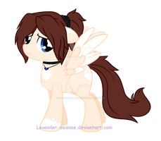 My Ponysona (Blank Canvas) : I feel neked~ by Lavender-Incense