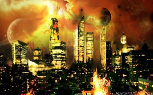 As the City Burns by LadyofOmniscience