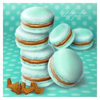 Mint Chocolate Macarons by VintageWarmth