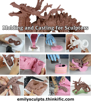 Online Class : Molding and Casting for Sculptors by emilySculpts