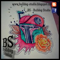 BS - Bulldog Studio - Boba Fett star wars by TattooBulldog