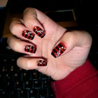 Red and Black stripes by BlueberrySakura