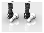 Chess-piece Stereogram by parallel-ether