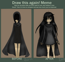 Meme  Before And After by DrawinWithoutReason