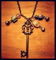 antique key necklace by kaidenmoon