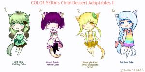 Dessert-Themed Adoptables II [CLOSED] by color-sekai