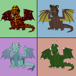 Plains Dragon Adoptables - Batch 02 by Death-Tendency