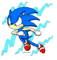 The Blue Blur by CraigTheCrocodile