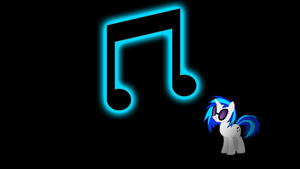 Vinyl Scratch-DJ P0N-3 Glowing Cutie Mark by alexram1313