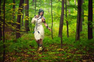 In the forest - Tyrande Whisperwind cosplay by Akishuna-Cosplay
