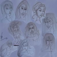 Sketches Pencil Disney ( or not ) by NicoleVanessa