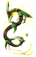 Mega Rayquaza by Zhoid