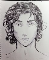 woman with curls by 4dam