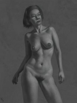 Female Torso Study 7 Day #196 by AngelGanev