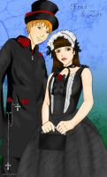 Elegant Gothic Fred and Zoe by marron