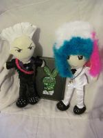 T.O.P and G-Dragon Plushies by VilleVamp