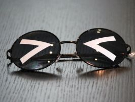 Anime Chibi Sunglasses - Angry Eyes by TheHeartofJapan