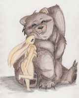 Bear and Bunny by RoxxeGurl