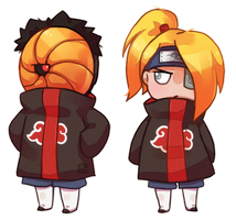 Tobi and Deidara by Cavea